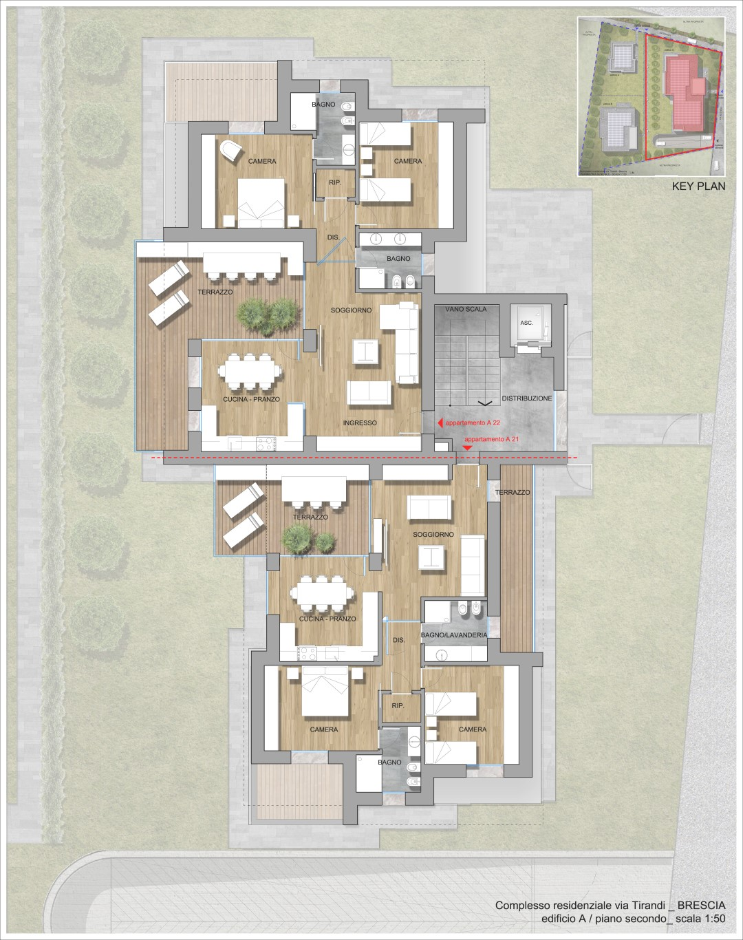 Complesso residenziale via Tirandi - Brescia -ULTIMI TRILOCALI IN VENDITA